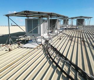 环保空调屋顶安装实例