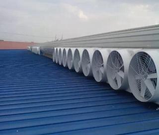 玻璃钢负压风机安装工程案例